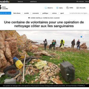 Une centaine de volontaires pour une opération de nettoyage côtier aux îles sanguinaires