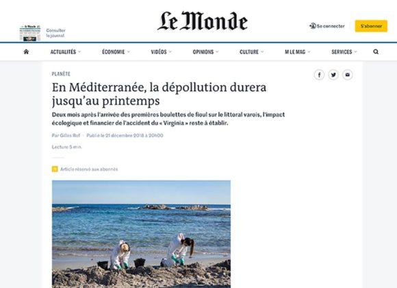 En Méditerranée la dépollution durera jusqu'au printemps