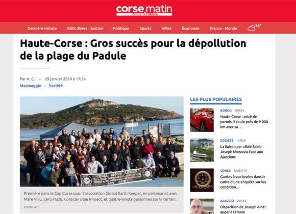 Haute-Corse : Gros succès pour la dépollution de la plage du Padule