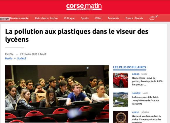 La pollution aux plastiques dans le viseur des lycéens